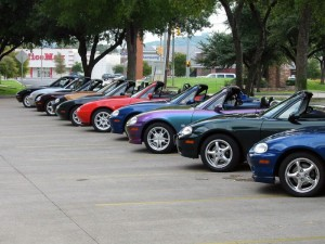 Group - sunkist  37 lined up at miata roundup