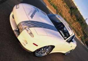White 2 - normal 93183z+1991 mazda miata+left front angled view